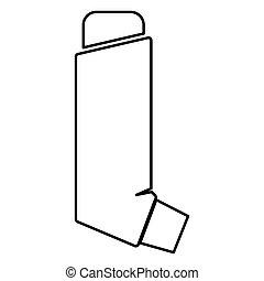 Manual inhaler icon black color illustration flat style simple image