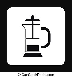 Manual juicer icon, simple style