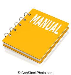manual, libro duro cubierta