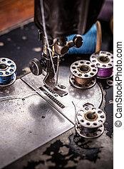 manual, máquina de coser