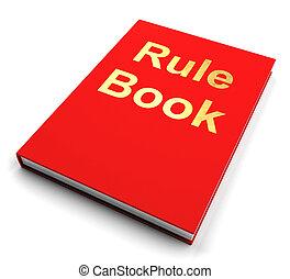 manual, regla, o, libro, política, guía