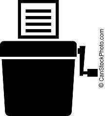 Manual shredder