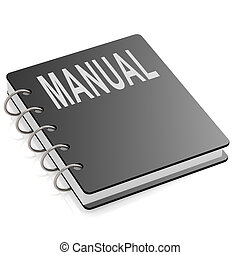 Manual with hard cover book