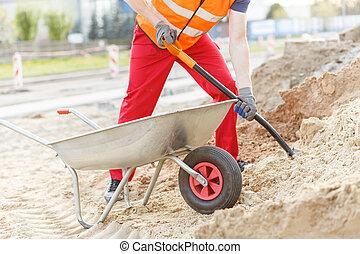 Manual worker digging