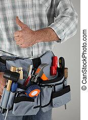 Manual worker tool belt