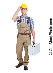 Manual Worker With Toolbox