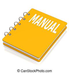 manuale, libro coperta duro