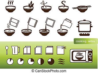 manuales, cocina, señales, embalaje