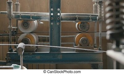 Manufacture of composite reinforcement - rotated mechanism...