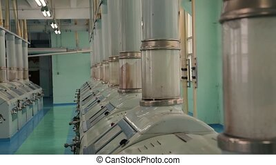 Manufacture of flour and cereals. - Flour mill. Manufacture...