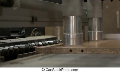 Manufacture of furniture. High-tech automated machine for...