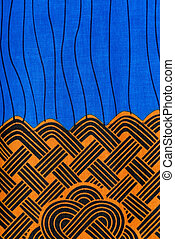 Manufactured African fabric (cotton