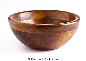 wooden bowl - manufactured wooden bowl empty. kitchen...