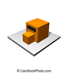 Manufacturer Building Icon on a White Background
