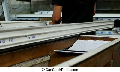 Manufacturing and manufacturing of PVC windows, a male...