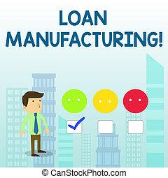 manufacturing., concepto, palabra, tick., empresa / negocio...