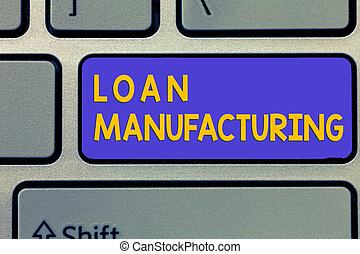 manufacturing., concepto, proceso, texto, préstamo, ...