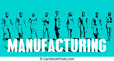 Manufacturing Focus with Business People United Art