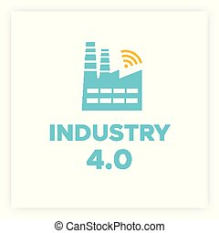 Manufacturing industry 4.0 revolution concept