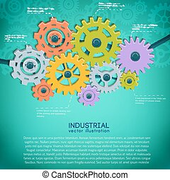 Manufacturing Mechanical Gears Background