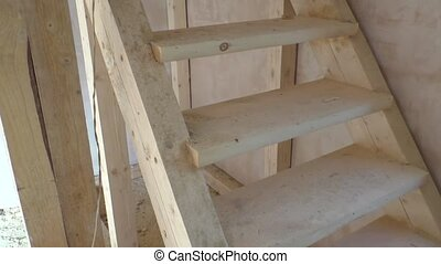 Manufacturing of a wooden stairs