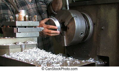 Manufacturing of details on a lathe