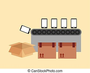 manufacturing phones design, vector illustration eps10...