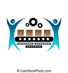 Manufacturing Team Icon - An image of a manufacturer team...