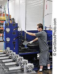 Manufacturing Test Engineer at work