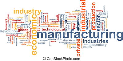 Manufacturing word cloud - Word cloud concept illustration...