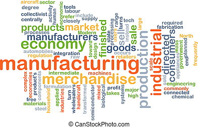 Manufacturing wordcloud concept illustration