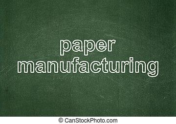 manufacuring, carta, lavagna, fondo, manifatturiero, concept: