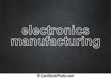 Manufacuring concept: Electronics Manufacturing on chalkboard background