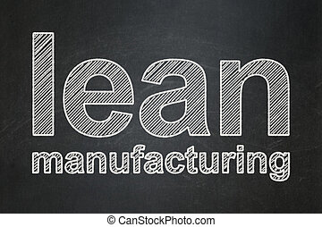 Manufacuring concept: Lean Manufacturing on chalkboard background