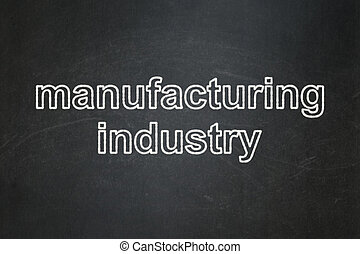 Manufacuring concept: Manufacturing Industry on chalkboard background