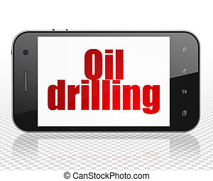 Manufacuring concept: Smartphone with Oil Drilling on display