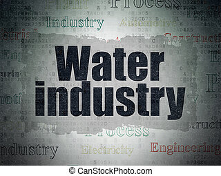 Manufacuring concept: Water Industry on Digital Data Paper background