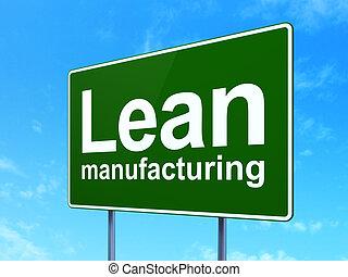manufacuring, mager, zeichen, straße, hintergrund,...