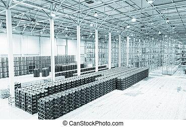manufatura, bens, constituição, grande, armazenamento, ...