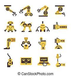 manufatura, robô