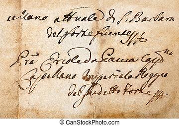manuscript of the 1700/1800 century