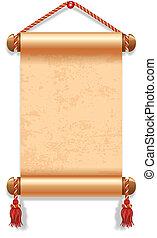Manuscript - Vector illustration of ancient manuscript, ...