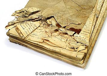 manuscrito, antigas