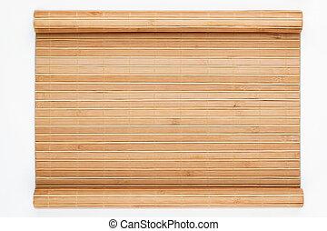 manuscrito, bambu, tapete, forma, torcido
