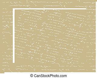 manuscrito, texto, en, viejo, papel, vector, ilustración