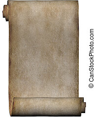 manuskript, rulle, i, pergament