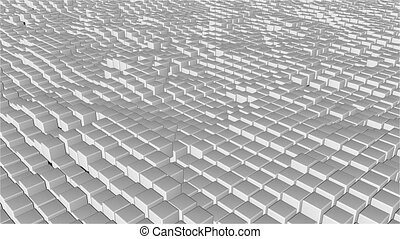 Many abstract cubes, optical Illusion, modern computer...