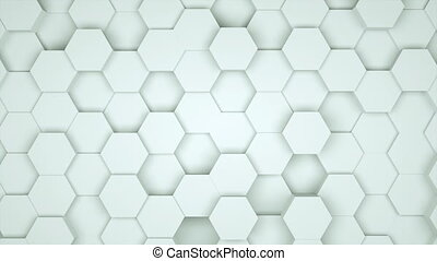 Many abstract geometric hexagons as wave, optical Illusion,...