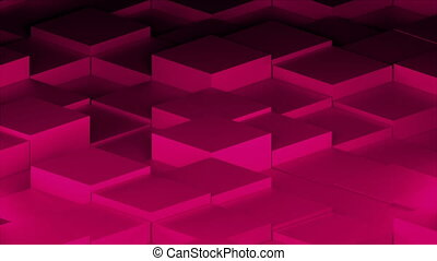 Many abstract isometric cubes, modern computer generated 3D render background