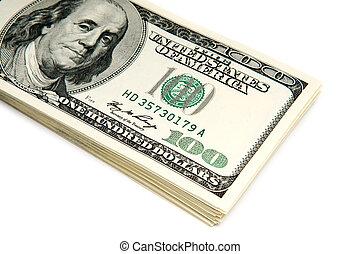 many american dollar bills - stack of american dollar bills